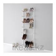 Настенная шина ,модуль для обуви, белый АЛЬГОТ фото