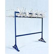 Гардеробная вешалка поворотная двойная на 100 мест (арт В.100-2) фото
