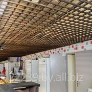Подвесной потолок из массива фото