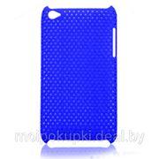 Задняя пластиковая крышка-сетка iPod Touch 4G синяя фото