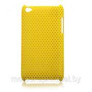Задняя пластиковая крышка-сетка iPod Touch 4G желтая фото
