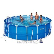 Круглый каркасный бассейн Bestway 56261,56418 Steel Pro Frame Pool , 366х107 см фото