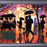 Наборы для вышивания бисером Дождливый вечер фото