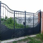 Кованые ворота из элементов ARTEFERRO фото
