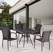 Комплект плетеной мебели T283BNT-W2390/Y282A-W52 Brown 4Pcs фото