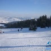 Зимний отдых, сезонный отдых, спорт и отдых. фото