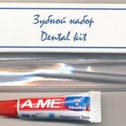 Зубной набор, набор для чистки зубов (паста в тубе + щетка) фото