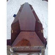Гроб лакированный (шестигранный) фото