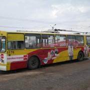 Реклама на бортах троллейбусов в Севастополе фото
