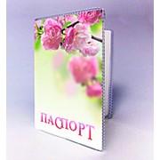 Паспортна обкладинка із цвітом сакури фото
