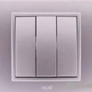 Выключатель 3-й ZENA модуль серебристый 609-011000-254 фото