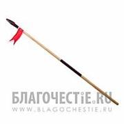 Искра Копье Отрок, детское деревянное с флажком фото