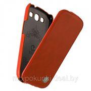 Чехол футляр-книга Rada для Samsung GT-I9300 Galaxy S III кожа оранжевая