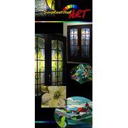Витражифьюзингтиффанимозаикасувениры из цветного стеклапаннокартинысветильникивставки в мебель фото