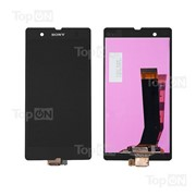 Матрица и тачскрин (сенсорное стекло) в сборе для смартфона Sony Xperia Z C6602, черный фото