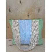 Handwaved cotton textile bag/Текстильная тканая сумка фото