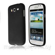 Силиконовый чехол матовый для Samsung i9080/i9082 Galaxy Grand черный фото