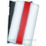 Чехол футляр-книга Art Case для LG L5 белый с красной полосой фото