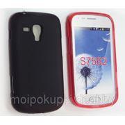 Силиконовый чехол накладка для Samsung S7562 Galaxy S Duos красный и чёрный, синий фото