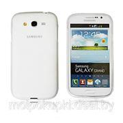 Силиконовый чехол матовый для Samsung i9080/i9082 Galaxy Grand белый фото