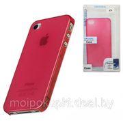 Задняя крышка супертонкая для iPhone 4S/4G малиновая фото