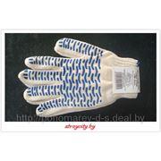 Перчатки х/б 5 нитей 7,5 класс с ПВХ Волна фото