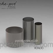 Кашпо из нержавеющей стали Rondo, поверхность шлифованная d 280 h 300 мм фото