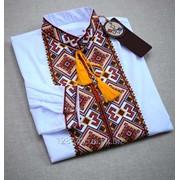 Нарядная яркая вышиванка с длинным рукавом для мужчин (Б-05) фото