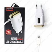 Сетевое Зарядное Устройство AOMOSI Charget 2.1A 2 USB Micro White (Белый) фото