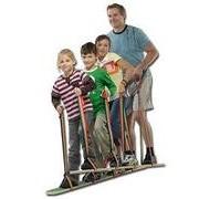 Педало Лыжи для двоих (длина 80 см, с креплением к ногам и лентой для обеспечения устойчивости) арт. RN17782 фото