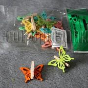Бабочки на прищепке 4х3,3см/12 шт. 6515 фото