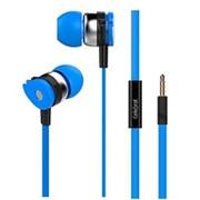 Наушники вкладыши с микрофоном Celebrat D1 Magic Wheel Blue мобильная гарнитура, синие фото