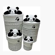 Корзина для белья Панда фото