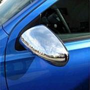 Накладки на зеркала Nissan Qashqai 2007–2013 (нерж. сталь) фото