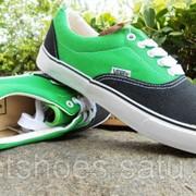 Кеды Vans Era черно-зеленые 35-45 , кроссовки, сникеры, шузы Код VanEr009 фото