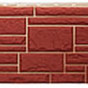 Фасадная панель Т-сайдинг Дикий камень Бордо фото
