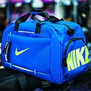 Спортивная дорожная сумка NIKE голубая фото