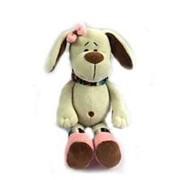 TEDDY Собака с розовым бантом, 17см (YSW18656) фото