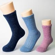 Детские термоноски 70% цветная овечья шерсть, цвет голубой фото