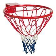 Кольцо баскетбольное (с упором и сеткой) фото