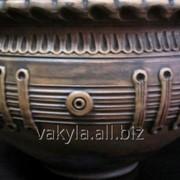 Глиняная макитра с косичкой на 3л. фото