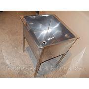 Ванна моечная односекционная полностью из нержавеющей стали (ДхШхВ) 400х600х860, ёмкость 400х500х300 фото