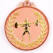 Медаль рельефная Тяжелая Атлетика бронза фото