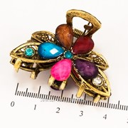 Краб (5 см.) бронзовый с цветными камнями 213276(9) фото