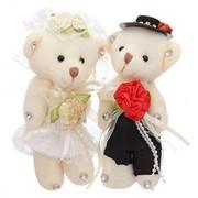 Мишки жених и невеста фото