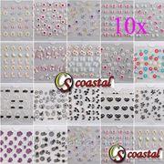 Набор из 10 3 D форм для дизайна ногтей фото