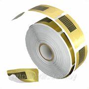 Одноразовые бумажные формы золотые узкие 100шт фото