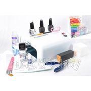 Набор для наращивания ногтей гелем Cosmo с лампой 36W 818 професс. расширеный фото