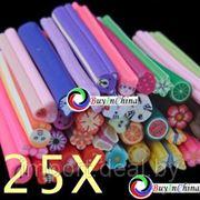 Цветные Stick наклейки для украшений и Nail Art 25 шт. фото