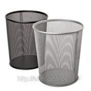 Корзина для мусора (металлическая, черная) фото